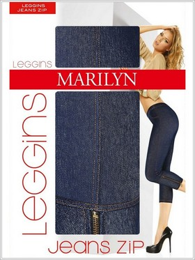 MARILYN - Леггинсы JEANS ZIP
